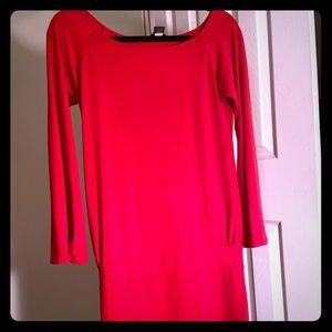 Red Drop waist dress